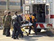 В США пассажирский поезд врезался в пожарную машину