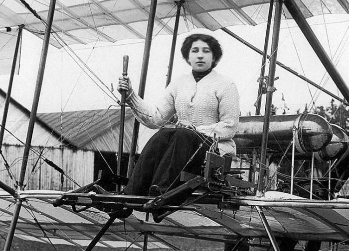 Первая русская летчица Лидия Зверева (Лебедева)