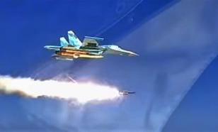 """24 истребителя Су-34 нанесли удары противнику  на СКШУ """"Центр-2019"""""""