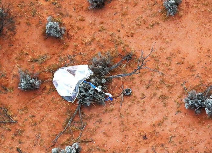 Капсула,отправленная шесть лет назад к астероиду, вернулась с образцами