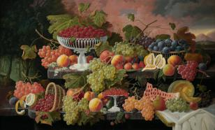 Эволюцию овощей и фруктов можно отследить по картинам художников