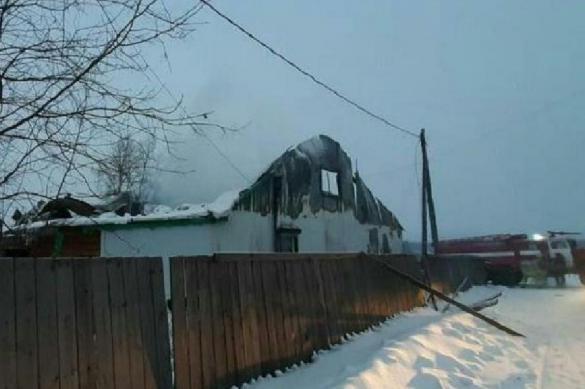 Семья из пяти человек погибла при пожаре в Иркутской области