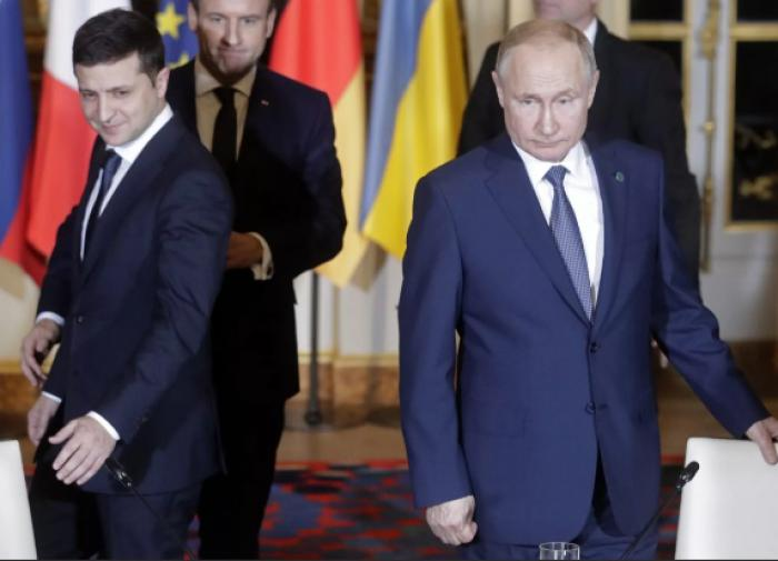 Глава МИД Украины назвал встречу Зеленского и Путина родами