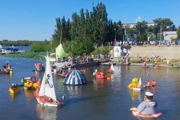 Фестиваль экзотических судов состоялся в Астрахани