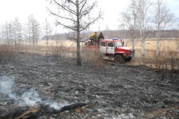 Четыре поселка пострадали от пожаров в Кемеровской области