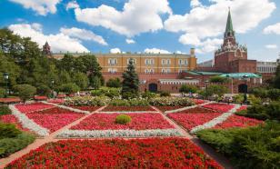 В Александровском саду провели предпраздничную дезинфекцию