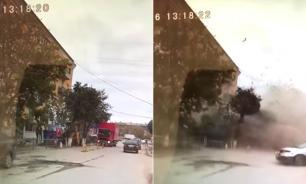 Опубликовано видео взрыва дома в Волгограде
