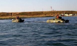 Бронемашина затонула при преодолении Керченского пролива