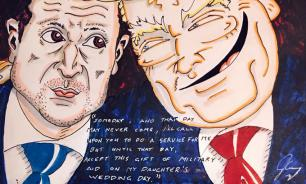 Джим Керри нарисовал карикатуру на Трампа и Зеленского