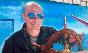 По всему Крыму появляются граффити с Путиным