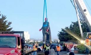В Хьюстоне демонтировали памятник Христофору Колумбу