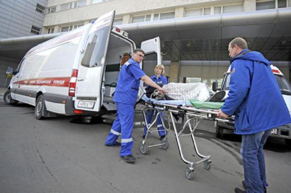 Срочно госпитализирован водитель попавшего в аварию автобуса в Москве