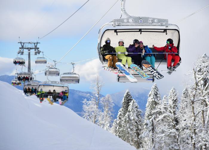 Новогодний спрос на российские горнолыжные курорты вырос на 20%