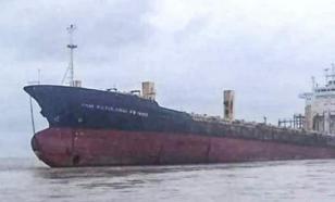 К берегам Мьянмы прибило гигантский корабль-призрак