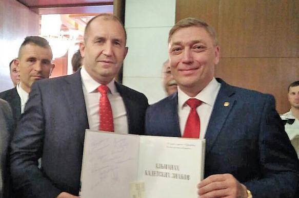 Московские суворовцы встретились с президентом Болгарии Руменом Радевым