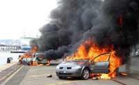В Москве опять горят автомобили.