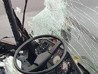 В Сибири опрокинулся автобус. Семь пассажиров ранены
