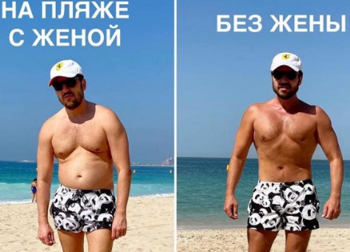 Александр Ревва показал, как поправился на отдыхе в Дубае