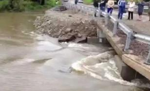 Переезд через реку Незнайка закрыт из-за размытия автомобильного моста