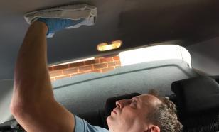 Грязный потолок в машине: как его помыть