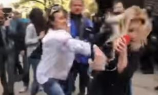 Украинскую журналистку избили в прямом эфире