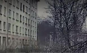 Появилось видео взрыва в квартире на улице Замшина в Петербурге