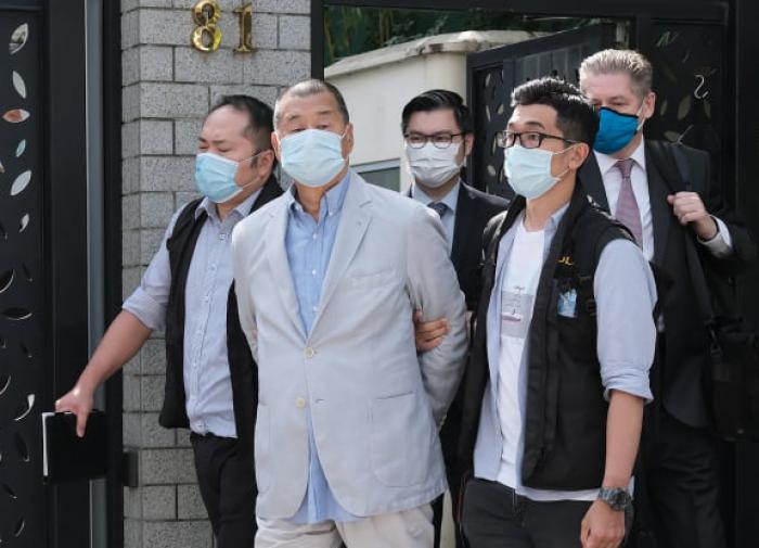 Поновому закону Китайская республика вГонконге арестовали медиа-магната Джимми Лая