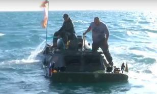 Из Керченского пролива достанут затонувшую бронемашину