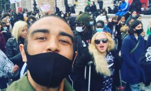 Мадонна вышла на протест против расизма на костылях