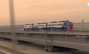 Владимир Путин открыл железнодорожный сегмент Крымского моста