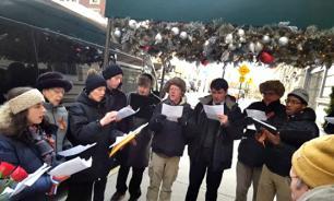 Хор из США исполнил гимн России в память о жертвах крушения Ту-154. ВИДЕО