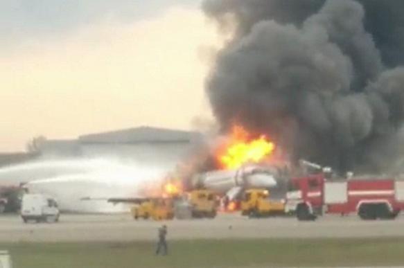 В Шереметьеве загорелся пассажирский самолет