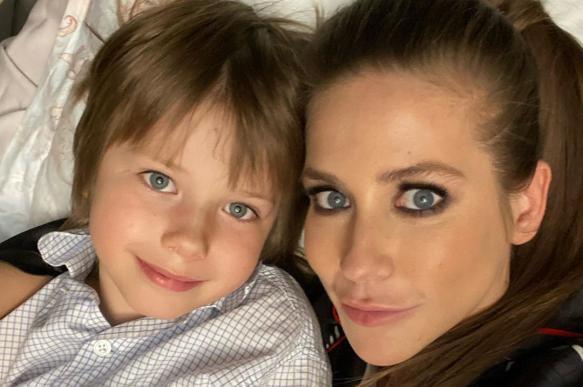 Юлия Барановская неудачно подстригла своего сына