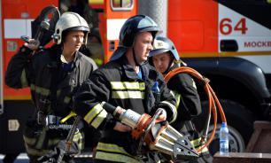 В Подмосковье на складе произошел крупный пожар
