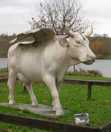 Коровы на фонарных столбах и в скафандрах