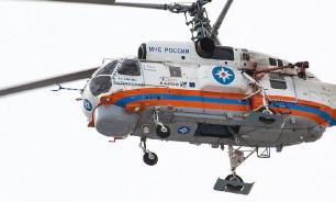 Для тушения пожара в Подмосковье привлекли два вертолета Ка-32