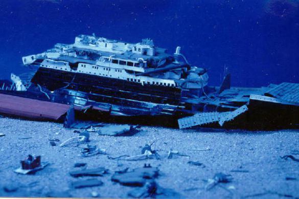 """Вторая смерть """"Титаника"""": опубликовано видео его разрушающихся обломков"""