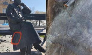Вандалы изуродовали памятник Михалкову в Пятигорске