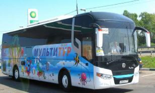 Украинский автобус опрокинулся под Воронежем