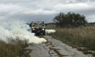 В Сибири военные показали навыки экстремального вождения