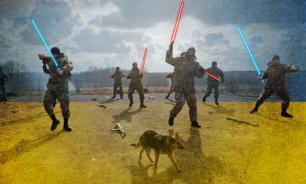 Украинские пограничники: Ополчение ДНР вооружено световыми мечами!