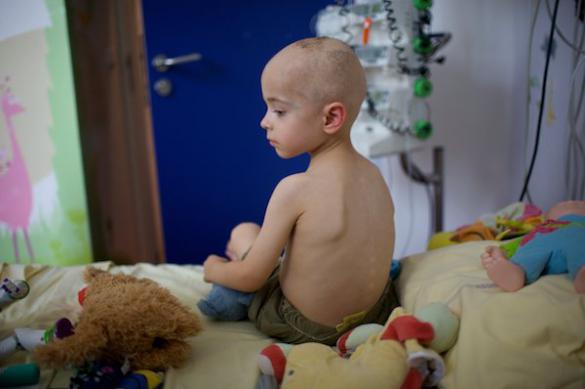Распространенный признак нейробластомы у ребенка  - отек в области живота