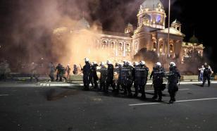 Беспорядки в Белграде продолжаются