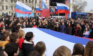 """Мы вместе: Россия отметила годовщину """"Крымской весны"""""""