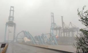 Три крана рухнули в крупном контейнерном порту близ Мумбаи