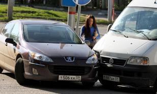 В Воронеже перевернулась маршрутка с пассажирами