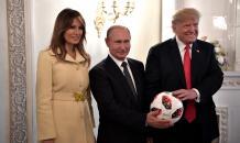 Мяч, подаренный Путиным Трампу, проверят