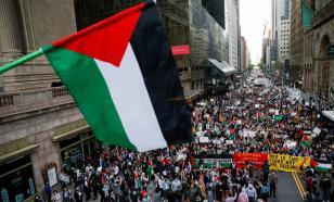 Сочувствующие евреям и арабам в Израиле сошлись в рукопашной в Нью-Йорке