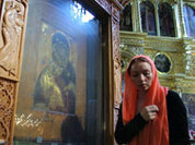 Защитница Москвы на Воскресенских воротах