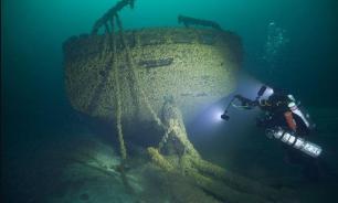 """В США на дне озера нашли затонувший сто лет назад """"корабль-призрак"""""""